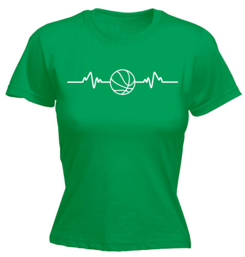 Basketball Heart Beat Pulse WOMENS T-SHIRT Basket Sport Funny Gift birthday