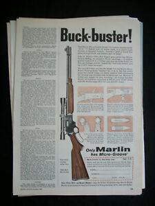 VTG-1960-Orig-Magazine-Ad-BUCK-BUSTER-Marlin-Micro-Groove-Gun-Mod-336