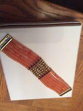 Lucky  Brand Gold Tone Beaded Carnelian Stone Bracelet $69 #E106 (5)