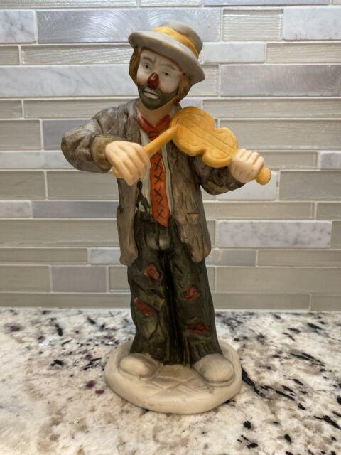 Emmett Kelly Jr  Limited Edition Vintage Clown Playing Violin Figurine