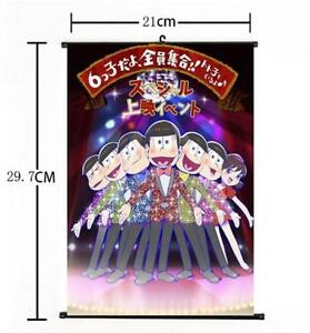 HOT Anime SIX SAME FACES Konya wa Saikou Mr Osomatsu San Home Poster Wall Scroll