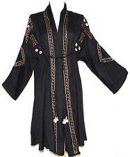 1X XL Ethnic Embroidered Gypsy Hippie Boho Bohemian Trench Kimono Style Coat