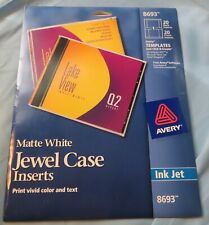 Avery 8693 Jewelcase Inserts Matte White For Inkjet 20 Pack From A New Hampshire