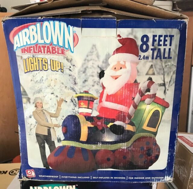 Christmas Airblown Inflatable 8 Ft.Lighted Santa Train ...