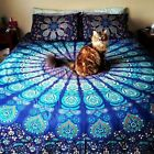 Mandala Tapestry Peacock Bedding Hippie Yoga Blanket Wall Hanging Beach throw