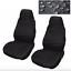 2 Car Seat Covers Waterproof Nylon Front Protectors Black fits Seat Ibiza leon