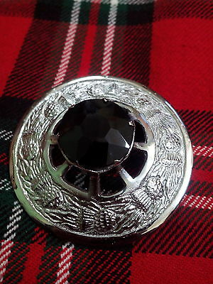 8cm Details about  /Scottish Fly Plaid Brooch Green Stone Antique Finish Shawl Pin /& Brooches