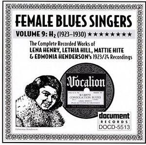 Details about Female Blues Singers, Vol  9: (1923-1930) Various Artists  Document DOCD-5513