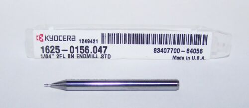 ".0156/"" MICRO CARBIDE 2 FLUTE ENDMILLS BALL END Kyocera 1625-0156.047 1//64/"""