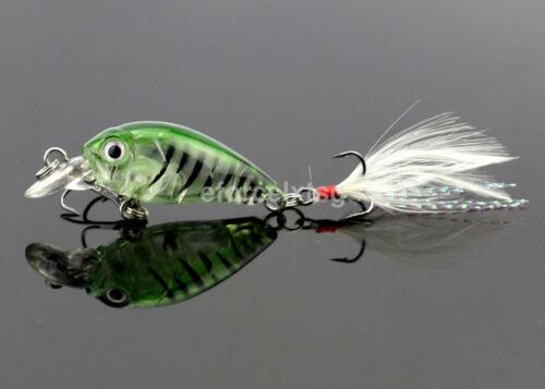 1PC Mini Crankbait Fish Eye Artificial Lure Bait Fishing Lures Crank Baits US