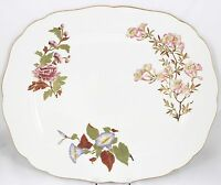 FINE ANTIQUE HAND PAINTED GILT FLORAL OVAL PLATTER 4 ROYAL WORCESTER CHINA W1701