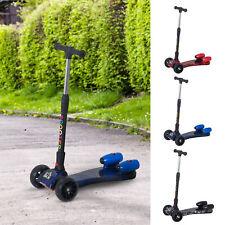 Scooter para Niños Ajustable Plegable con Música Luces +3 Años 61x26x63-81 cm