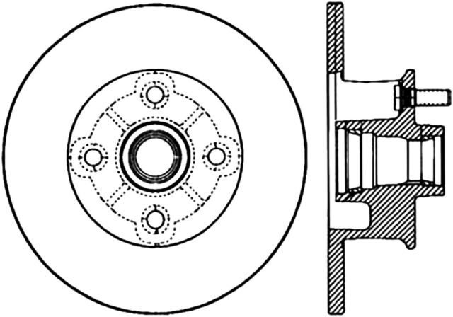 Disc Brake Rotor Premium Disc Preferred Front Fits 76 77 Chevrolet