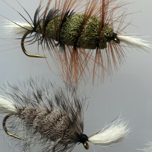 6 #73 Fly Fishing BOMBER Atlantic Salmon Pike Trout Flies 6 pack SIZE SIX