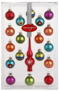 Christbaumkugeln Set Bunt.Details Zu Christbaumkugeln 3cm Glas Baum Spitze Mini Kugeln Weihnachtskugeln Set Bunt Deko