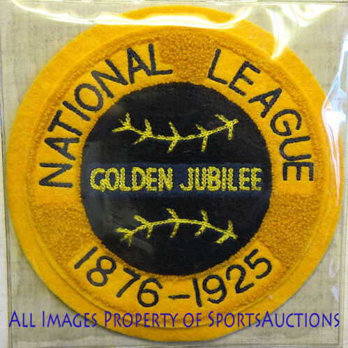 1925 NATIONAL LEAGUE GOLDEN JUBILEE Cooperstown PATCH Willabee /& Ward PATCH ONLY