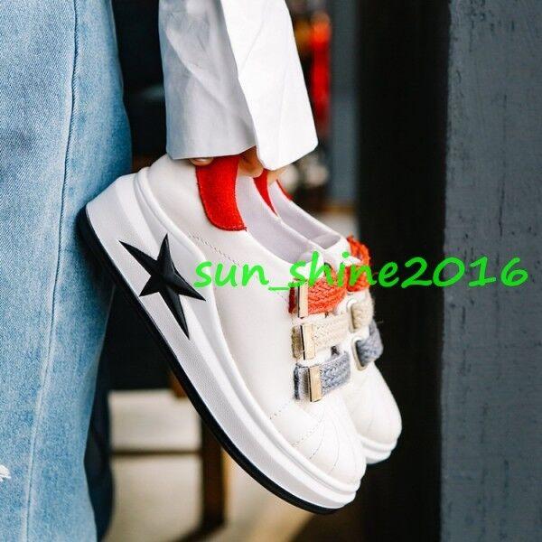 Para mujeres Plataforma Correa Tacón Zapatos Tacón Correa Con Plataforma De Deportes Correr Zapatillas Sneakers US10.5 e69d71