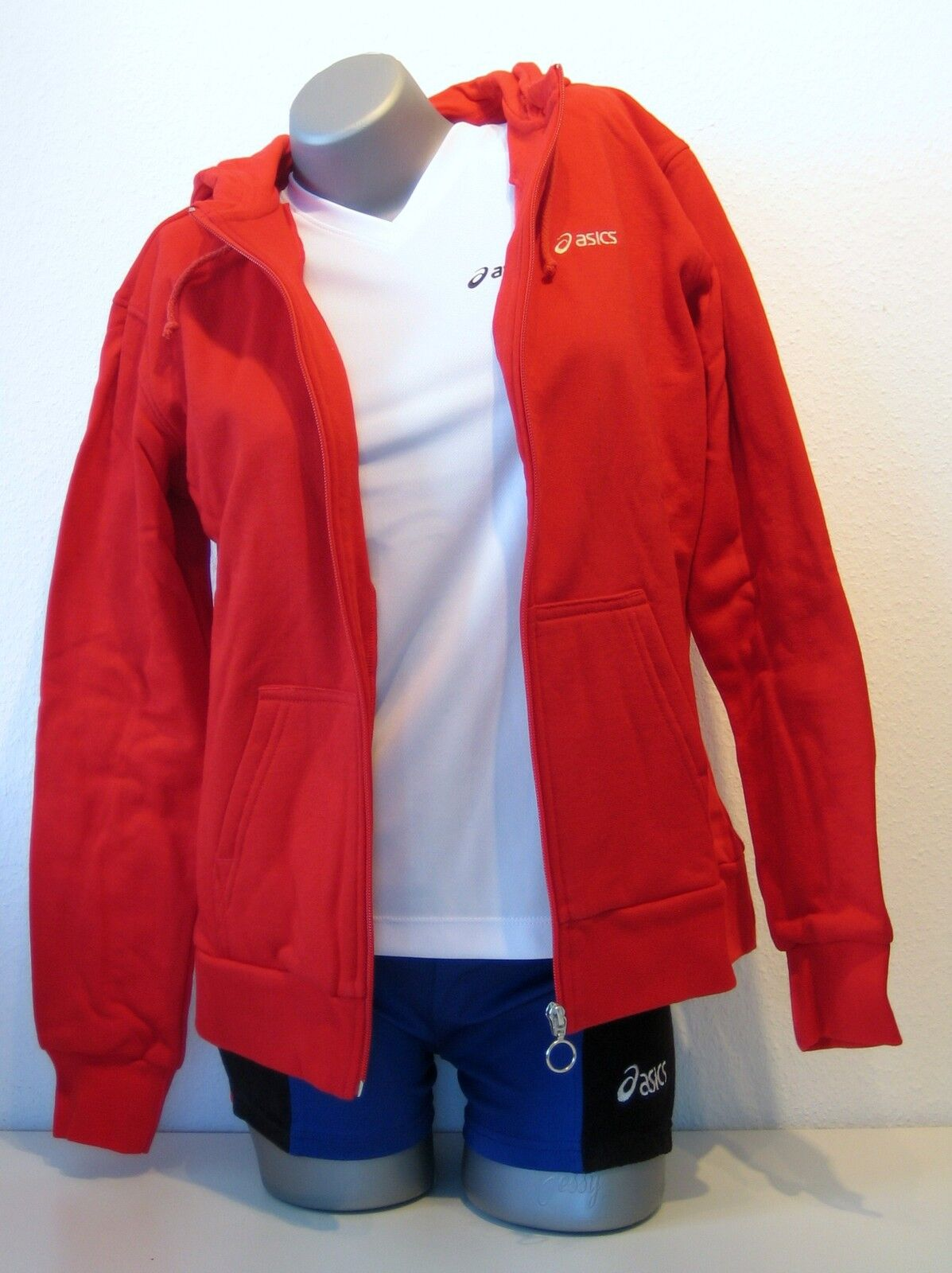 Ae Asics Ladies Hoodie Sweat Size XL(48 50) Red New Chumba Hooded Vest
