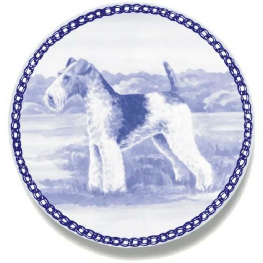 Foxterrier - Dog Plate made in Denmark from the finest European Porcelain