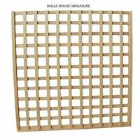 Trellis Panel Natural Wood Finish 150mm X 150mm, Dolls House Miniature Garden