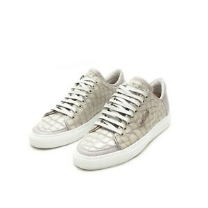 buy popular 24d1f 88ad0 Details about ICEBERG Crocodile Embossed leather Grey Sneakers