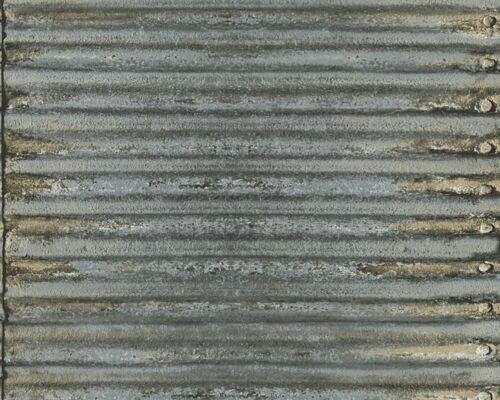 Tapete Vlies Metall Wellblech Vintage AS Vliestapete Decoworld 2 grau 30756-1 3