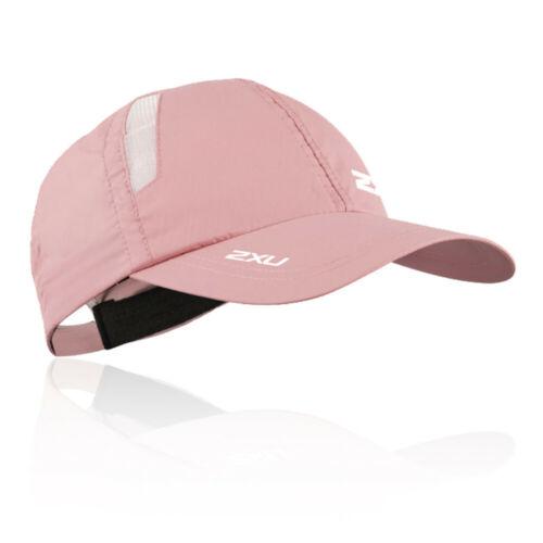 2XU Womens Run Cap Pink Sports Running Breathable Lightweight