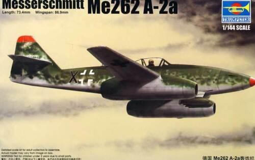 Trumpeter Messerschmitt Me262 A-2a 262A mit Krad 1:144 kit Modell-Bausatz kit