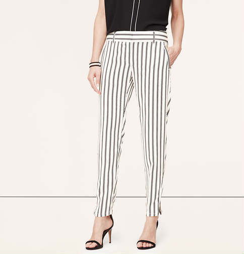 Ann Taylor LOFT Striped Summer Pants in Marisa Fit Size 4, 8 NWT Jasmine color
