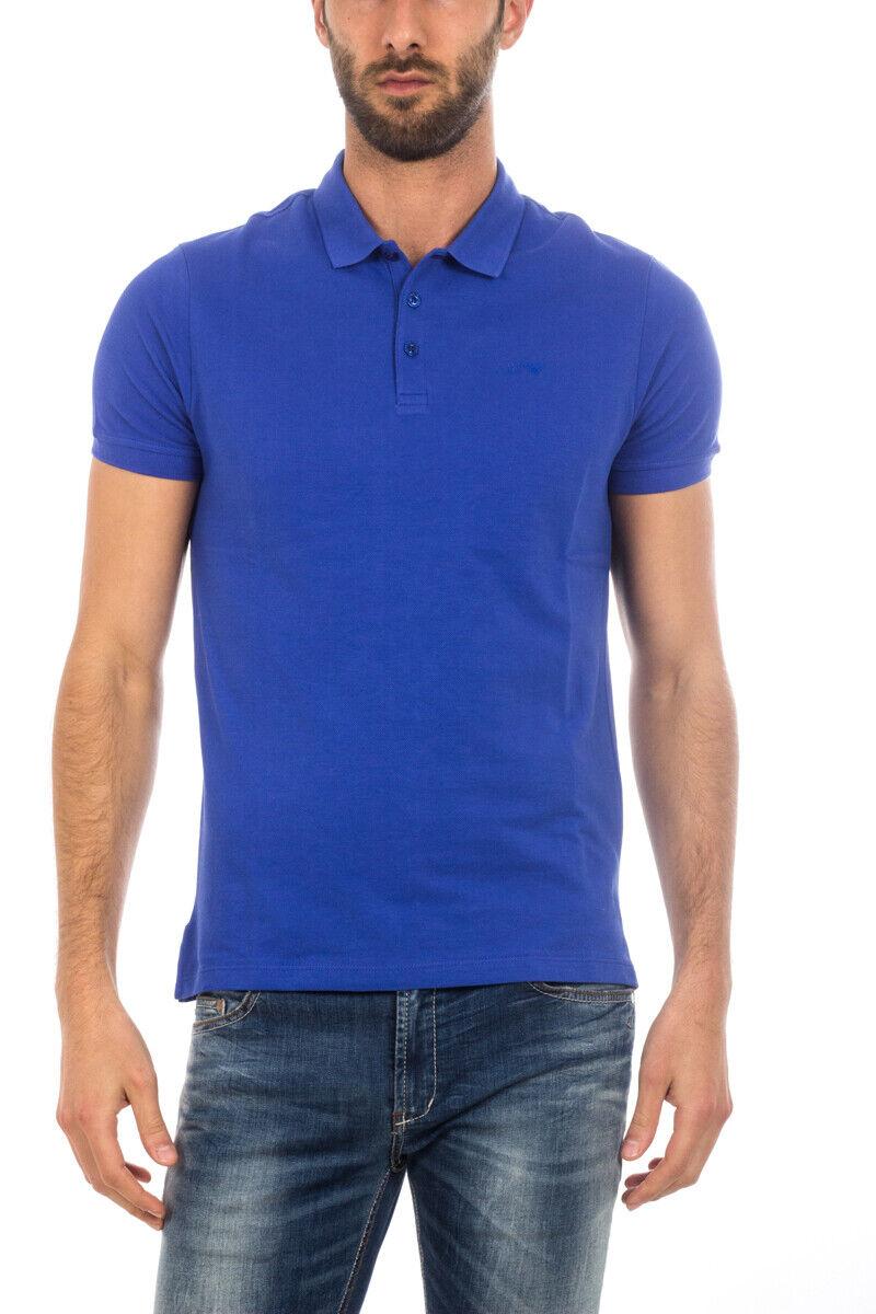 Polo Armani Jeans AJ  Polo Shirt Cotone hombres azul 8N6F126J0SZ 1586  disfruta ahorrando 30-50% de descuento