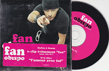 CD CARTONNE CARD SLEEVE 2T + VIDEO PASCAL OBISPO FAN DE 2003 FRENCH STICK