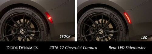 Diode Dynamics LED Sidemarkers for 2016-2017-2018 Chevrolet Camaro Amber Red Set
