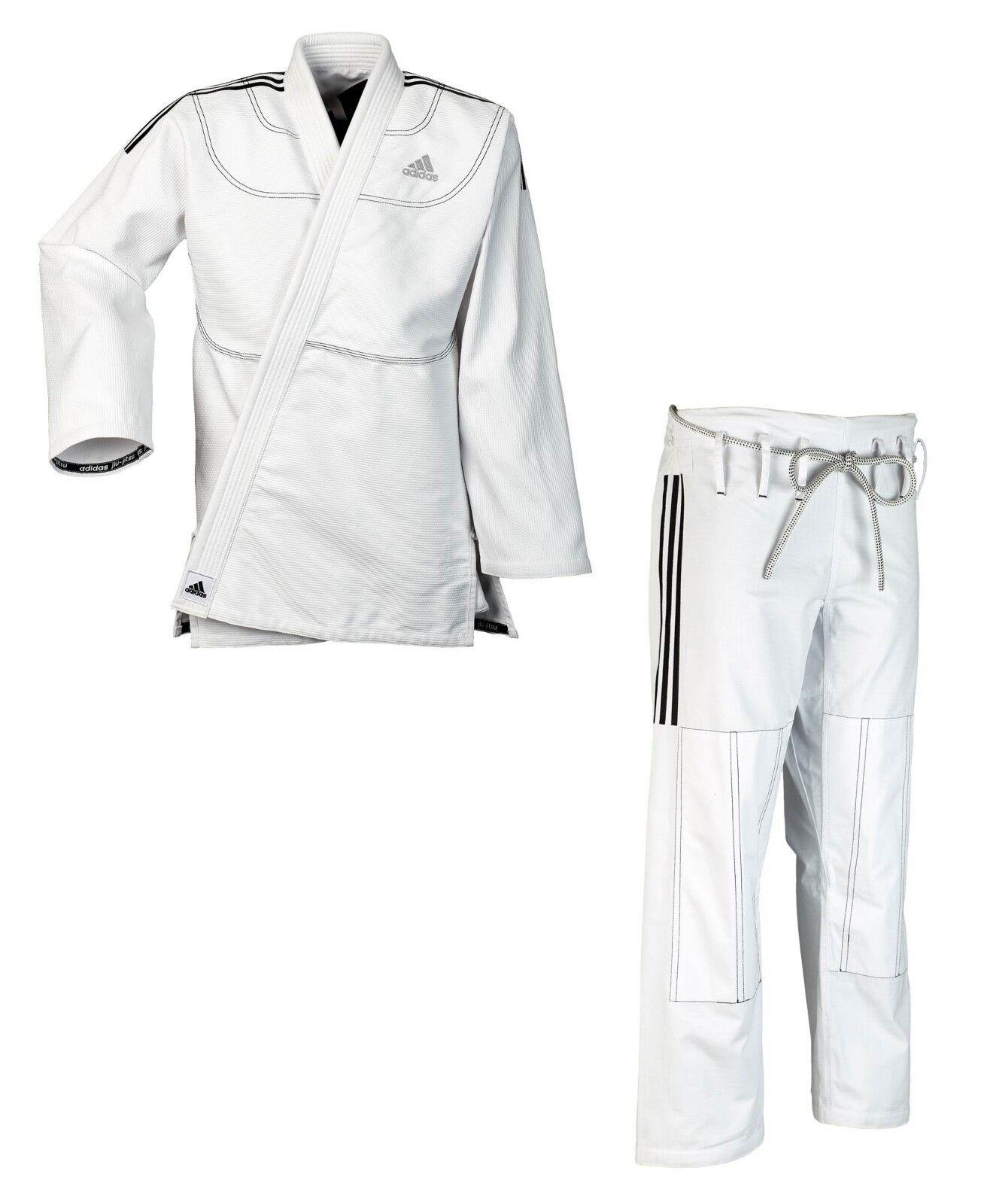 Adidas BJJ Anzug  Contest 2.0  weiß JJ430 Jiu-Jitsu Kimono - BJJ-Gi - Ju-Jutsu