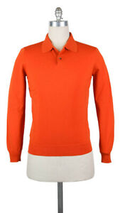 Neu Svevo Parma Orange Wolle Pullover - Polo - M/50 - (1330SPE09X59)