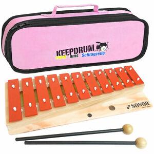 Sonor GS Xylophon Glockenspiel für Kinder keepdrum Trage-Tasche