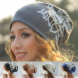 Unisex Womens Cotton Winter Warm Ski Slouch Hat Cap Beanie Hats ... 58ff5ece2ec
