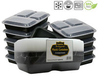 Meal Containers Food Storage Prep Lunch Box Reusable 3 Compartment 10 Pack New