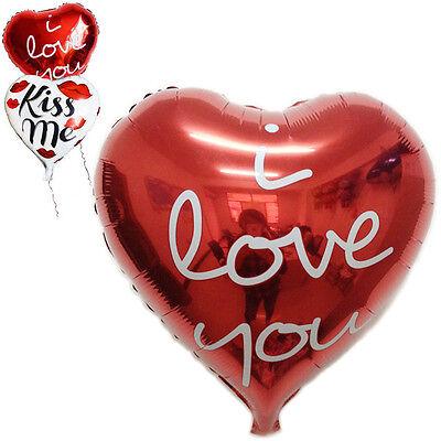 18'' Heart Love Foil Helium Balloon Birthday Party Wedding Decoration I Love You