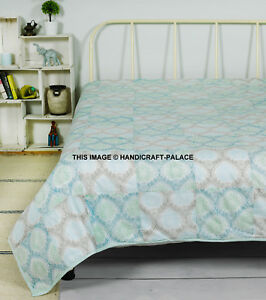 Indian-Soft-Cotton-Throws-for-Sofas-Settee-Bedspread-Bed-Covers-Blankets-White