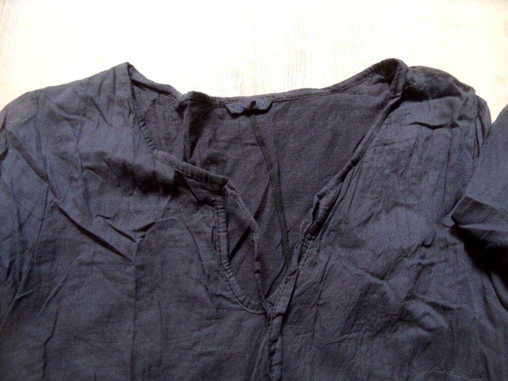 BRAEZ schönes leichtes Tunikakleid Tunikakleid Tunikakleid m. Volantärmeln blau Gr. M NEUw. KoS917 b8f3a0