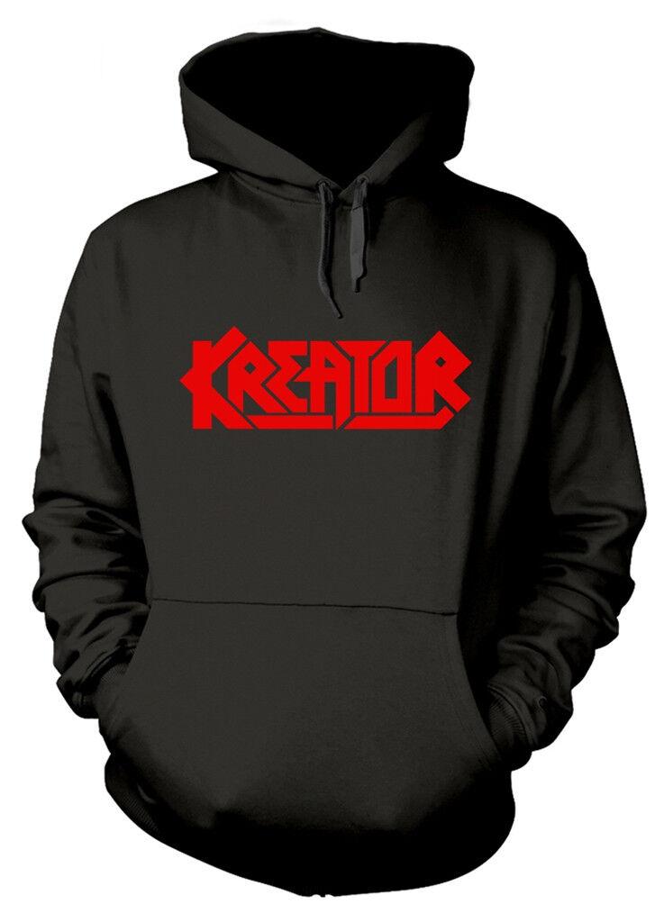 Kreator sono D logo  Pullover Con Cappuccio-Nuovo e Ufficiale