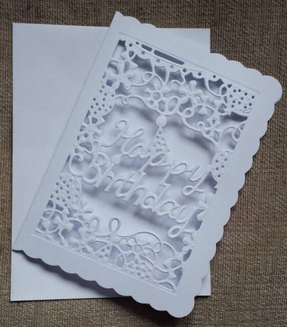 5x7 Happy Birthday Die Cut Cards pack of 5
