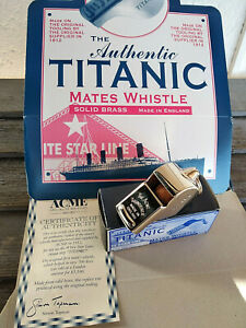 Sifflet marin du Titanic fidele replique fabriqué en Angleterre + boite