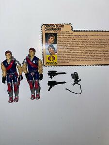 1985 Gi Joe Cobra Twins Tomax and Xamot 100/% complete!!
