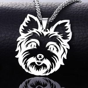 Stainless steel yorkshire yorkie terrier dog tag collar charm image is loading stainless steel yorkshire yorkie terrier dog tag collar aloadofball Image collections