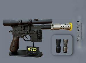 Han Solo Star Wars blaster dl-44 gun prop cosplay