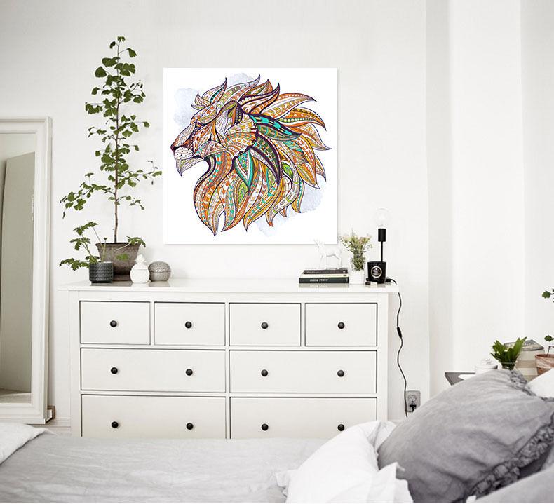 3D wild Löwe 465 Fototapeten Wandbild BildTapete Familie AJSTORE DE