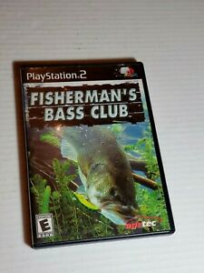 Sony-PS2-Fishing-Game-Fisherman-039-s-Bass-Club-Outdoor-Sports-Case-Manual-CD
