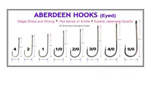 Sea Fishing Hooks size 4-5//0 Koike Aberdeen Pack of 10
