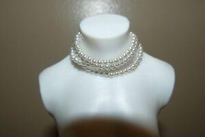 franklin mint  doll faux diamond and pearl earrings